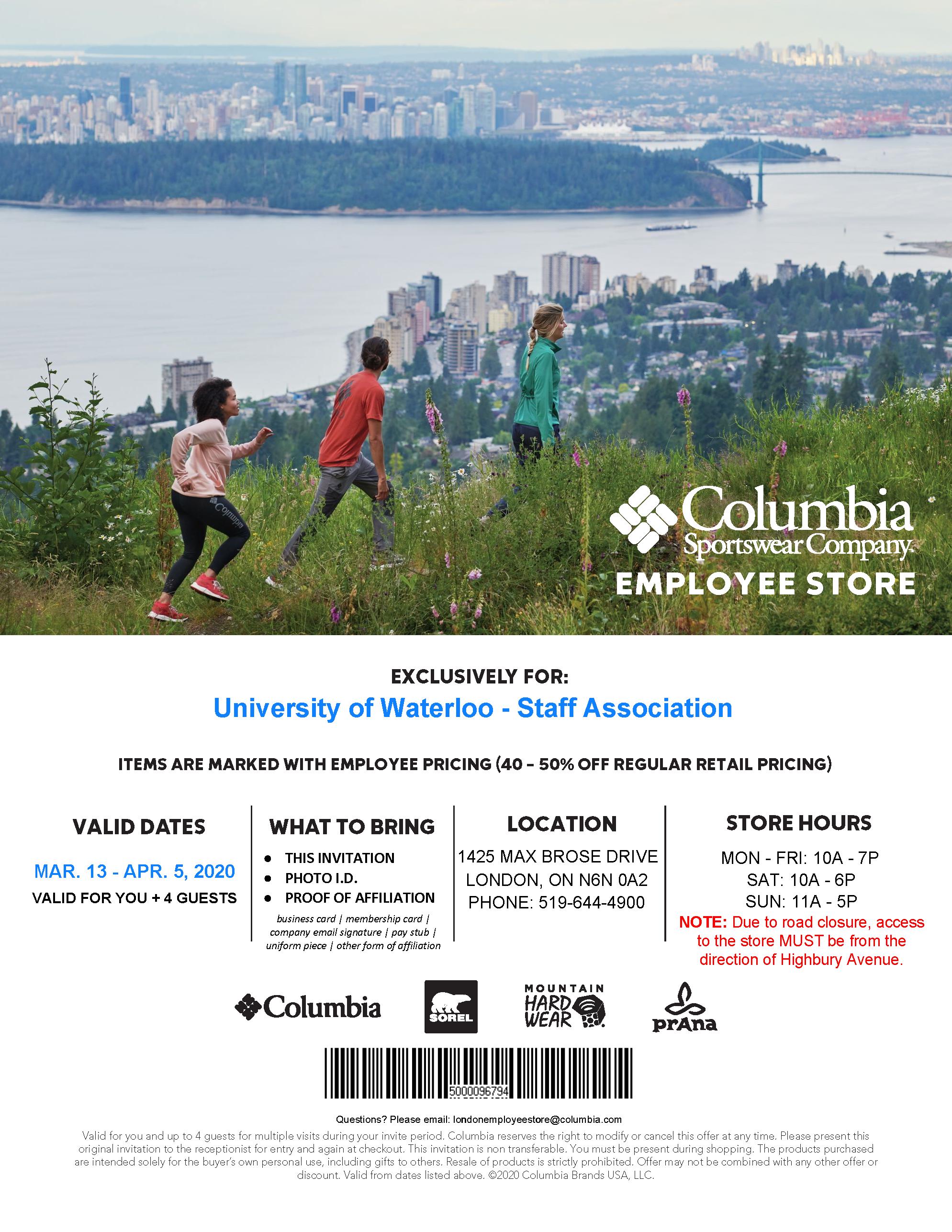 Columbia sale flyer