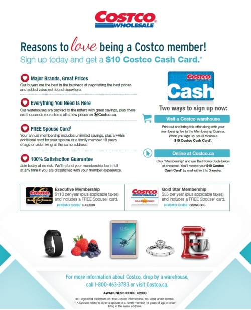 Costco UWSA promotion