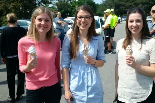 3 women eating ice cream
