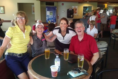 golfers drinking