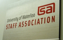 Staff Association sign