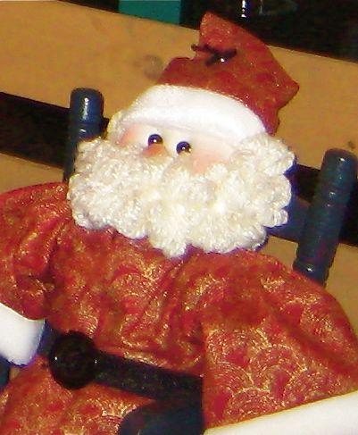 hand crafted santa