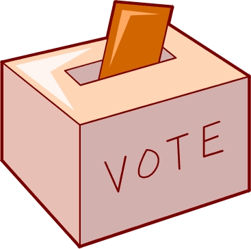 image of ballot going into ballot box