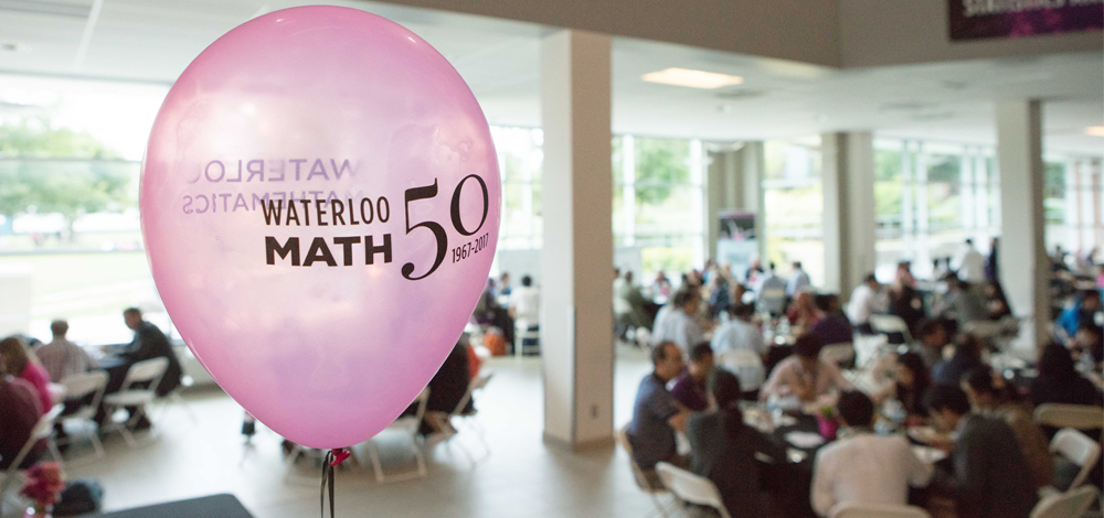 Math 50th Balloon at the conference