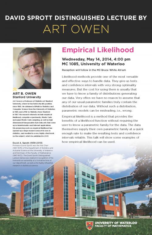 """Empirical likelihood"" lecture poster."