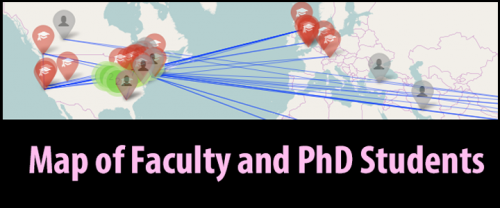 Map of Faculty and PhD Students backgrounds
