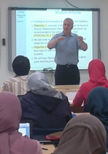 Dr. Paul Mariott, delivering course to faculty of various universities in Bandung, Indonesia