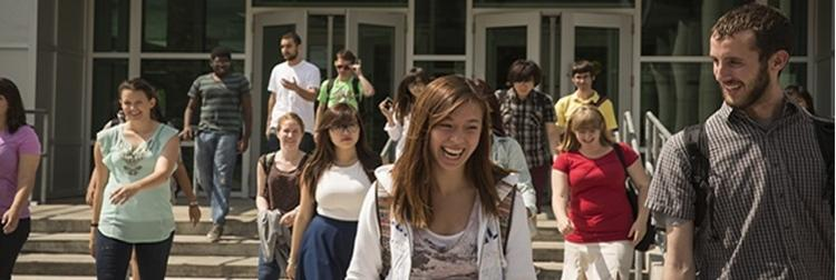 Students Smiling and laughing
