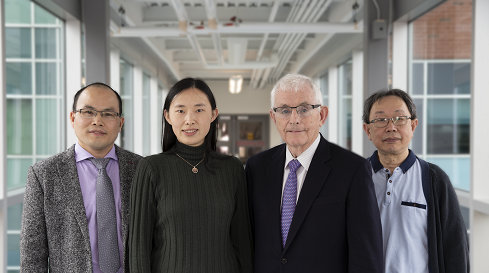 Researchers in image, left to right; Chengguo Weng, Danqiao Guo, Phelim Boyle, and Tony Wirjanto.