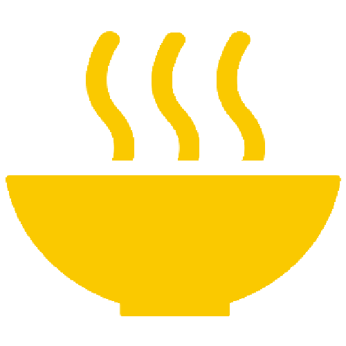 Bowl with steam