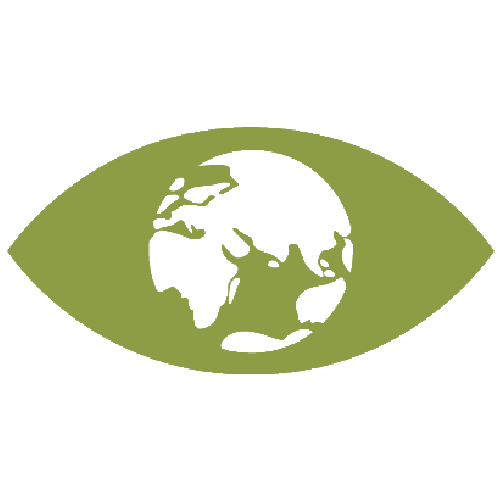 Eye with Earth instead of pupil