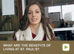 What are the benefits of living at St. Paul's?