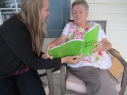 Rachel and her grandmother reading