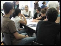 A group photo of students participating in an activity.