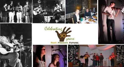 A collage of photos depicting past Blackforest performances