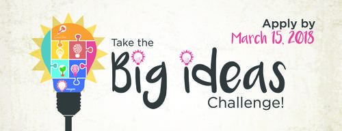 big ideas challenge banner with lightbulb filled with puzzlepieces