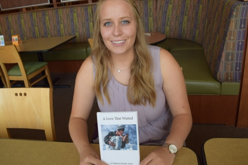 Rachel Thompson and one of the Marlena Books