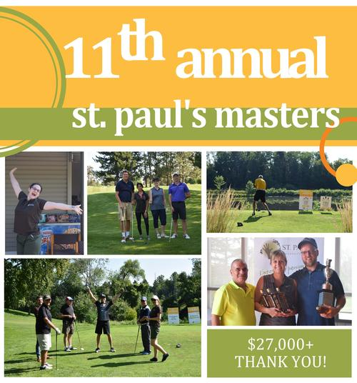11th Annual St. Paul's Masters thank you message