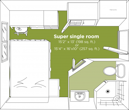 Updated Super Single Room Layout