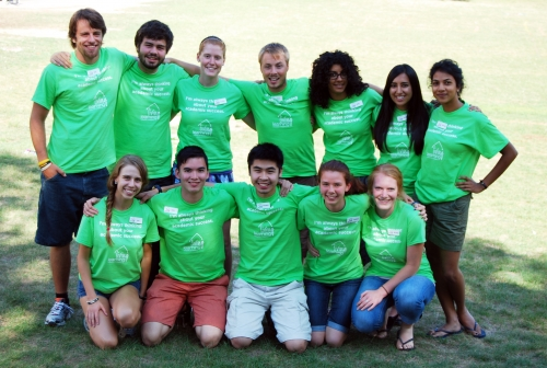 Group photo of 2012-13 peer leaders