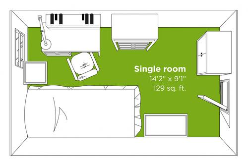 Traditional single room layout