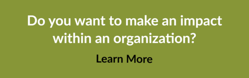 Do you want to make an impact within an organization?