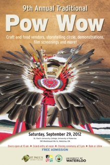 Pow Wow poster showing regalia