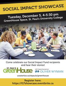 poster image for the GreenHouse Social Impact Event