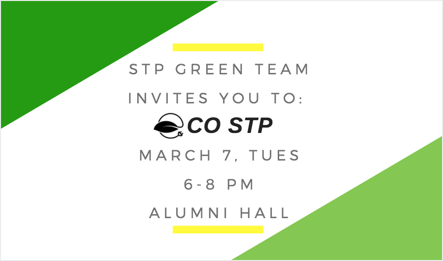 ECO STP poster with text overlay