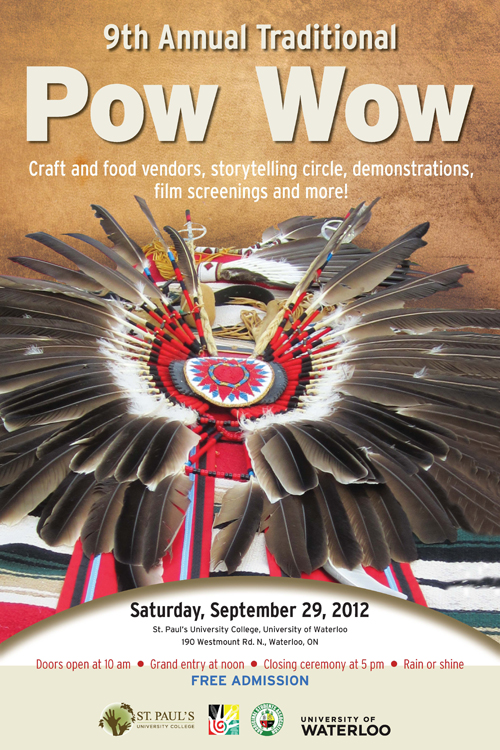Pow Wow poster with regalia