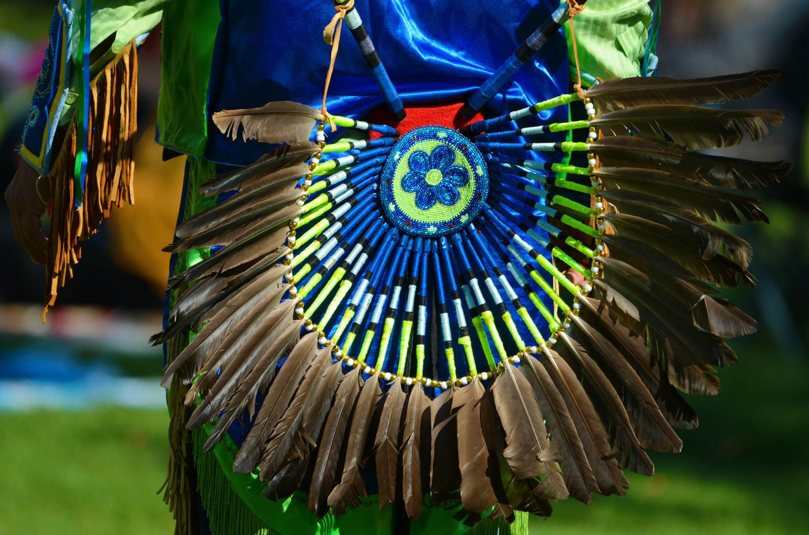 Blue and yellow regalia