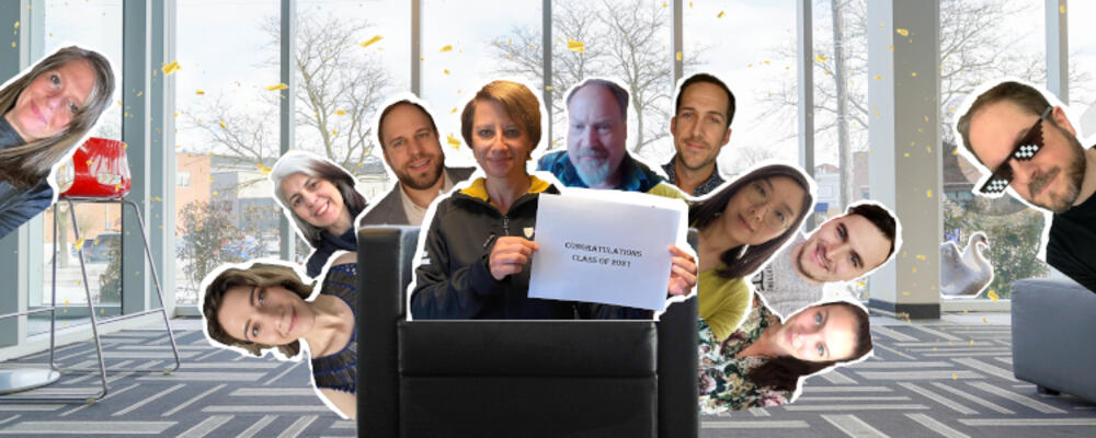 Stratford Faculty and staff photoshopped in chair