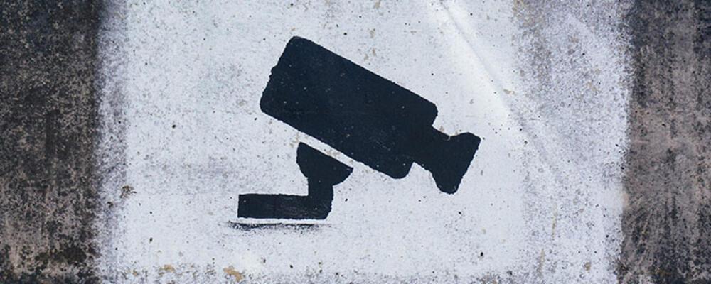 Graffiti artwork of a security camera