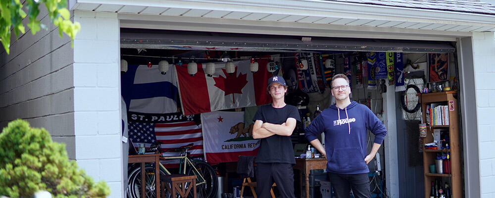 OpenUnit founders in front of garage
