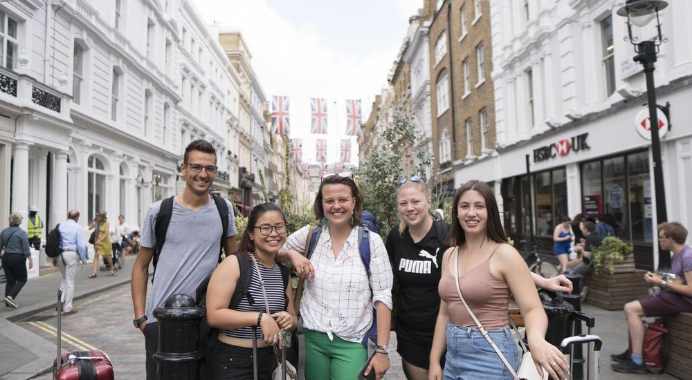 GBDA students posing for photo in London UK