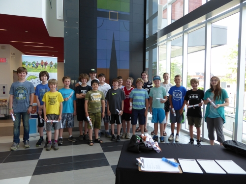 Participants in the Code-a-Character program