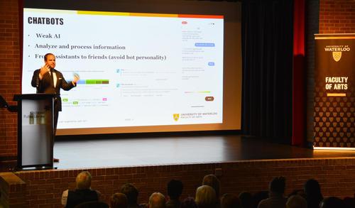 Lennart Nacke presenting