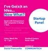 Startup panel ad