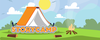 StoryCamp Cartoon camp image with book that looks like a tent