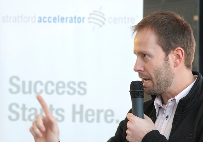 Andrew Jackson, vice president of client services with the Accelerator Centre,