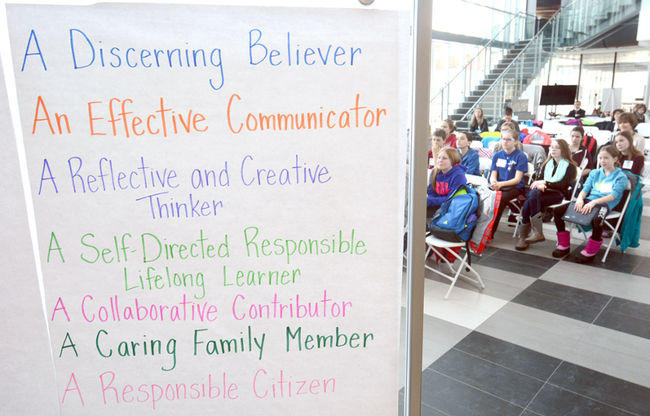 A technology summit for local Catholic elementary school students on Monday at the University of Waterloo Stratford campus
