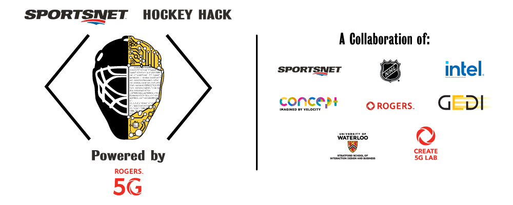 Sportsnet Hockey Hack Powered by Rogers 5G logo and sponsors