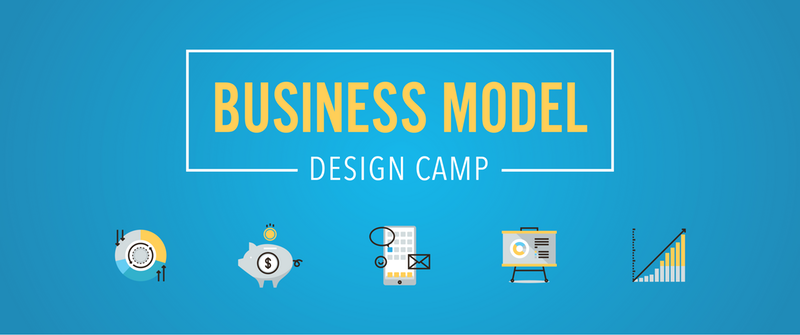Business model design camp logo