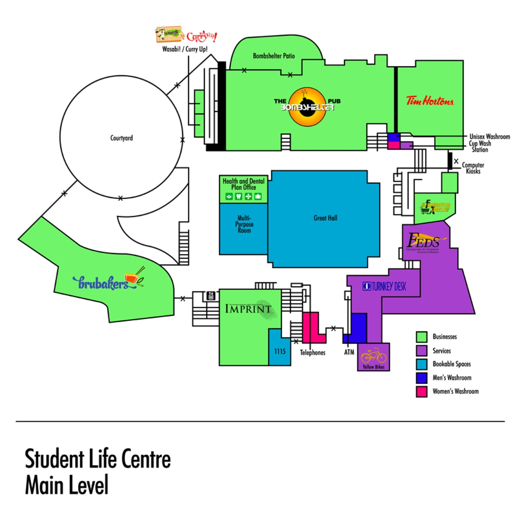 Student Life Centre main floor map