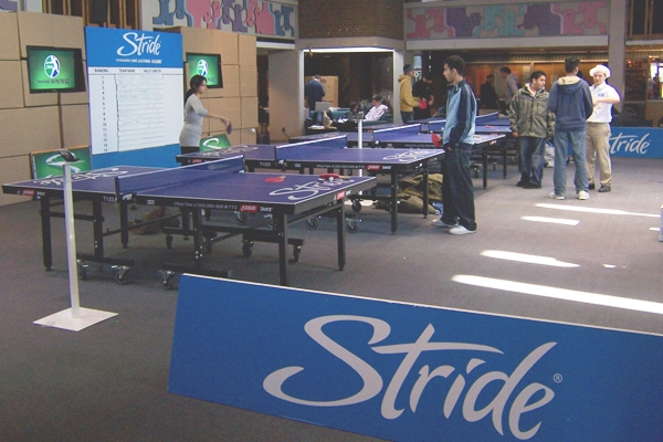 Stride table tennis event