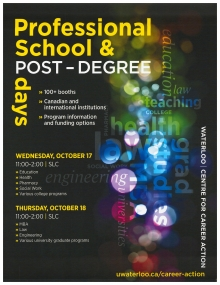 Professional School & Post-Degree days poster
