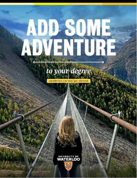 Add some adventure to your degree. Outbound exchange brochure.