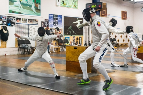 Marc in fencing duel