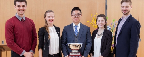 University of Waterloo's Gah-Jone Won won first prize at the 2016 3MT Ontario provincial competition.