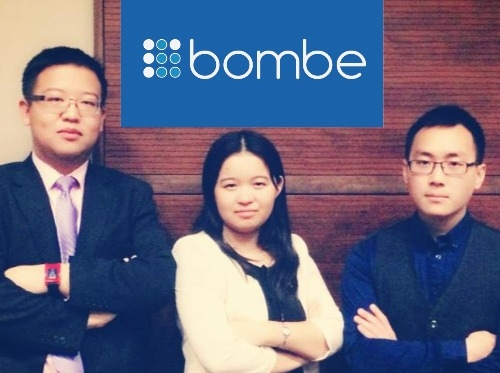 Picture of three students who are the creator of Bombe Inc